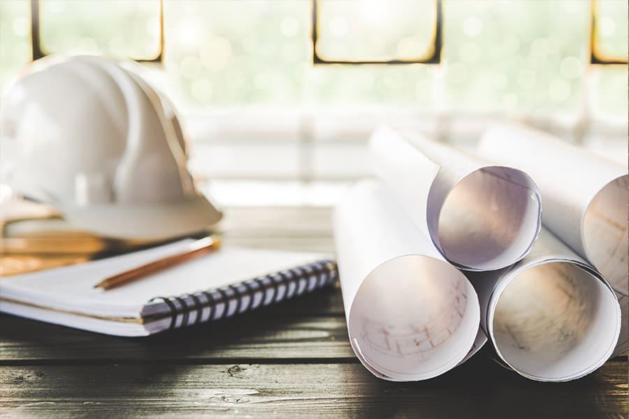 Planung und Entwürfe zu Bauarbeiten