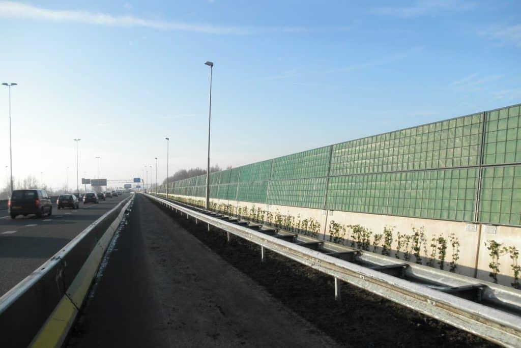 Lärmschutzwand an vielbefahrener Autobahn - RAU